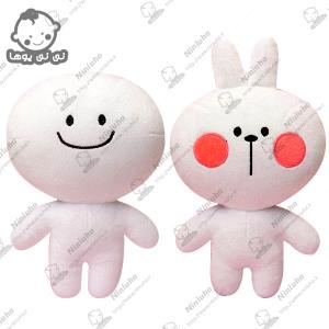خرید عروسک استیکر خرگوش و کله گردالی تلگرام 30 سانتیمتری