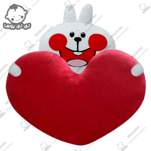 خرید استیکرخرگوش خندان قلب به دست